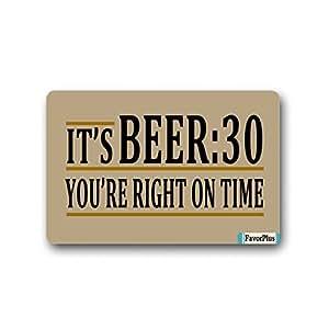 ES cerveza: 30Que Estás justo a tiempo citas Felpudo Felpudo Lavable a máquina alfombra antideslizante alfombrillas de baño decoración de la cocina alfombra 23,6x 15,7pulgadas