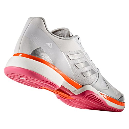 adidas ASMC Barricade 2017, Sneakers Basses Femme Lgh Solid Grey / White / Radiant Orange