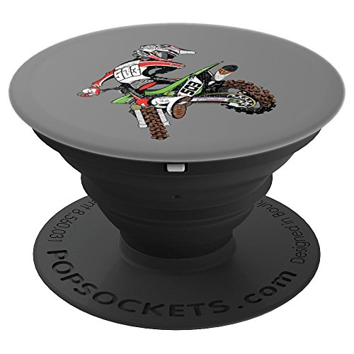 Dirt Bike Rider Motocross - PopSockets Grip and Stand for Phones and Tablets (Best Dirt Bike For Tall Riders)