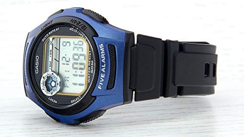 Casio Unisex-Adult Quartz Watch, Digital Display and Resin Strap W-213-2AVES