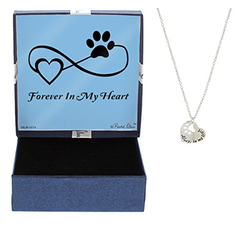 Rescue Dog Bracelet Rescue Cat Silver-Tone Forever in My Heart Pendant Paw Print Necklace Jewelry Box Keepsake Gift for Dog Lover Gifts Bracelet Pet Dog Memorial Gift Cat Memorial Gift