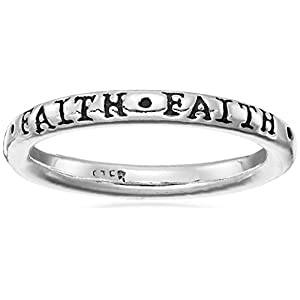 Bob Siemon Sterling Silver Faith Ring