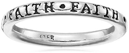 Bob Siemon Sterling Silver Faith Ring