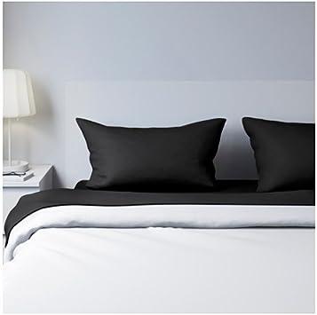 IKEA juego de sábanas, Negro, king: Amazon.es: Hogar