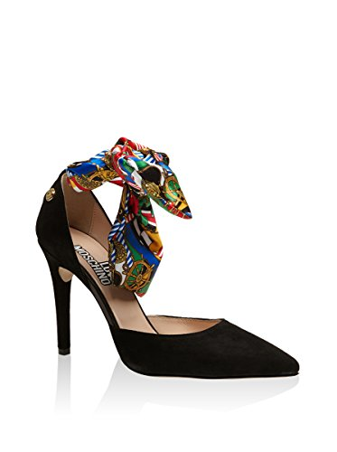 Love Moschino - Zapatos de vestir de ante para mujer Negro negro
