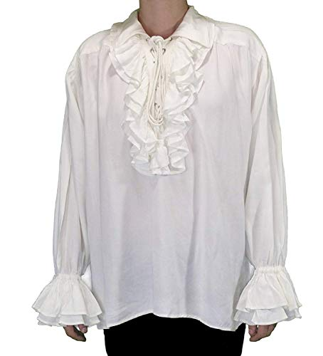 Medieval Poet's Pirate Shirt Costume [White] (Small/Medium) -