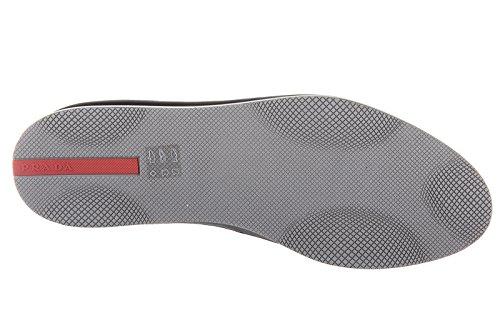 Zapatillas Slip-on Prada En Prada Para Hombre Nuevas Plumas Azules Originales