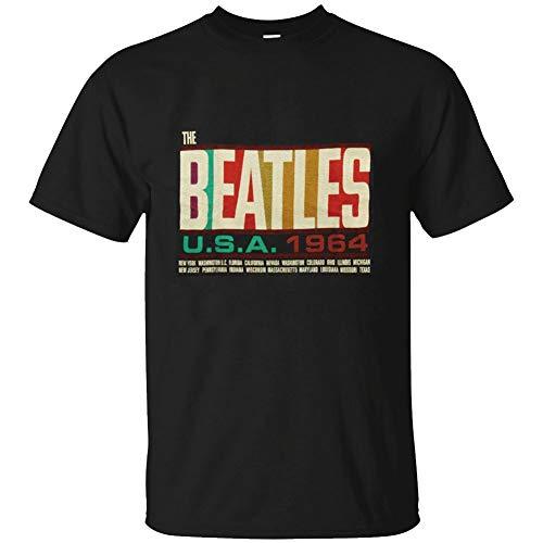 (IHHASD Unisex The Beatles USA 1964 Tour T-Shirt(Men Black)