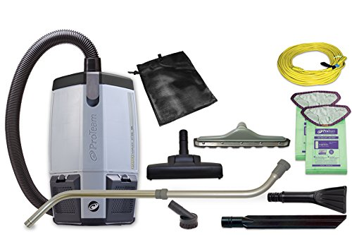 Powered Stair Lift (ProTeam Commercial Backpack Vacuum Cleaner, ProVac FS 6 Vacuum Backpack with HEPA Media Filtration and Residential Cleaning Service Kit, 6 Quart, Corded)
