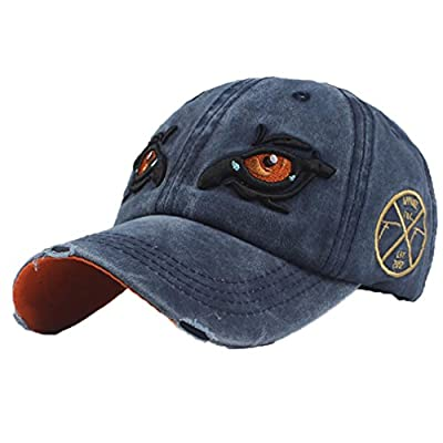 Vertily Hat Men Women Embroidery Adjustable Snapback Baseball Plain Sun Cap by Vertily