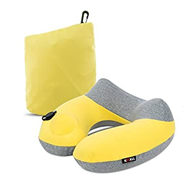 Kmall Travel Pillow, 11.5x11.2x5.1 in, Yellow