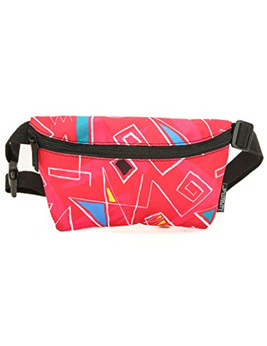 FYDELITY Ultra-Slim Fanny Pack Belt Bag -80's Shoulder Pads Queen Eighties 1980 Retro |For Fashion Accessories/Small Waist Pouch/Hip -