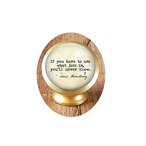 hars Jazz Quote Keychain ~ Meaning Jazz Music ~ Louis Armstrong Quote ~ Gift Musician ~ Jazz Keychain ~ Jazzy Gift ~ Music Jewelry, Gothic Woman Keychain Magnetic Car Phone Mount Holder