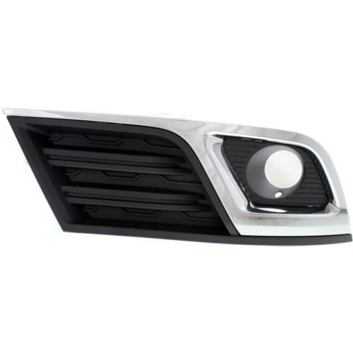 Perfect Fit Group REPC108617 - Traverse Fog Lamp Cover, RH, Black, W/ Chrome Molding, W/ Fog Lamps, Lt Model