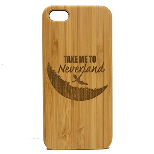 Neverland iPhone 6 Plus or iPhone 6S Plus Case. EcoFriendly Bamboo Wood Cover. Peter Pan Moon Fairytale Fantasy Pixie Dust.