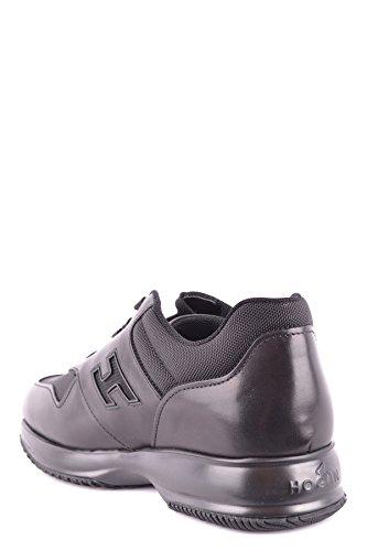 Hommes Hogan Mcbi148486o Chaussures De Sport En Cuir Noir