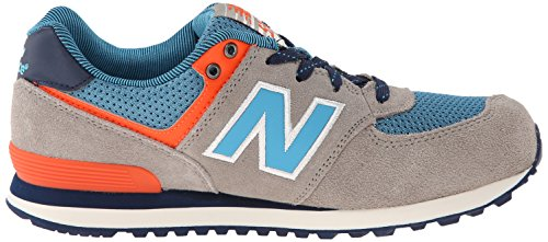New Balance Classic Traditional Purple Youths Trainers Gris - gris