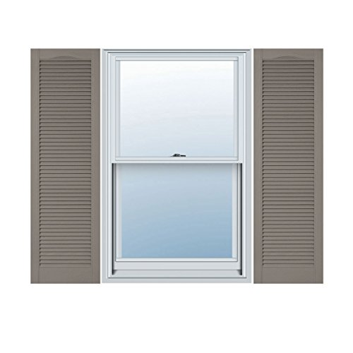 Ekena Millwork LL5C18X07300CL Custom Cathedral Top All Louver, Open LouverShutter (Per Pair)18