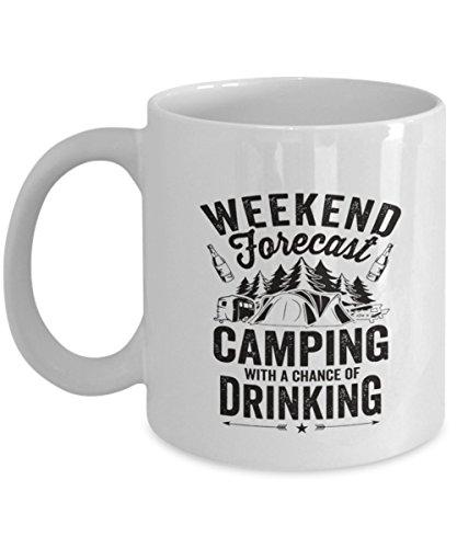 Funny Camping Mug - RV Coffee Mug - Weekend Forecast - Campi