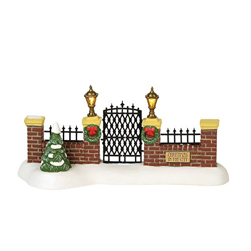 Department 56 Christmas in The City Village Accessories Entry Gate Lit Figurine, 2.75