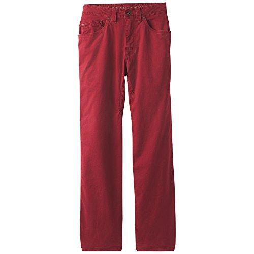 "prAna Bronson 32"" inseam Pants, Crimson, Size 40"