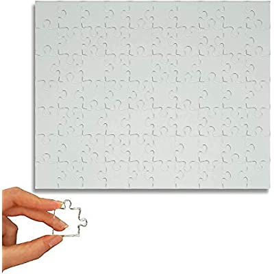 Practically Impossible Clear Jigsaw Puzzle - 8 in by 10 in of brainteasing Fun. 70 Pieces - Challenging for All Levels.: Toys & Games