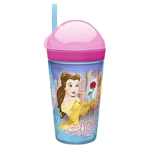 Zak Designs PRYC-S114 Belle and Cinderella Disney Princess Snack Cup, 10 oz, Clear