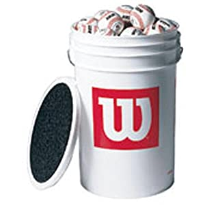 Wilson A 1010 Blems Bucket of Baseballs (3-dozen baseballs) from Wilson