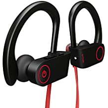 Bluetooth Headphones, Otium Wireless Sports Earphones w/ Mic IPX7 Waterproof HD Stereo Sweatproof In Ear Earbuds for Gym Running Workout 8 Hour Battery Noise Cancelling Headsets