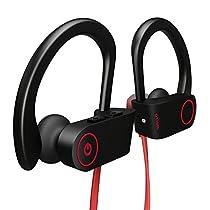 Bluetooth Headphones, Otium Wireless Sports Earphones w/ Mic IPX7 Waterproof HD Stereo Sweatproof In Ear Earbuds for Gym Running Workout 8 Hour Battery Noise Cancelling Headsets