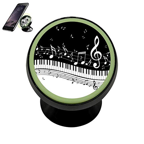 Family Dream Piano Note Music Mini Magnetic Phone Car Mount Holder Custom Strong Magnets Cradle Stand Smartphones Vehicle Bracket Universal 360?Rotation Noctilucence Dashboard Kits]()