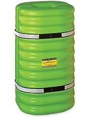 "Eagle 1708LM Hi-Vis Column Protector, 24"" Length X 24"" Width X 42"" Height, for 8"" Column, Lime Green"