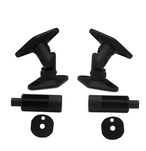- Vantage Point SATP-B Universal Satellite Speaker Mounts - Black