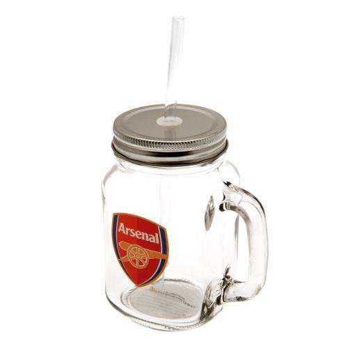 Arsenal FC Mason Jar - Official Arsenal Product - Feature...