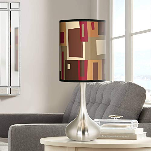 (Earth Palette Giclee Droplet Table Lamp - Giclee Glow)
