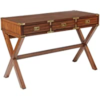 Office Star Wellington Solid Wood 3 Drawer Desk, Toasted Wheat