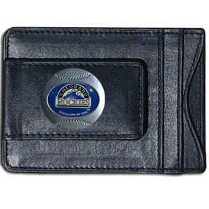 Siskiyou MLB Colorado Rockies Leather Cash & Cardholder ()
