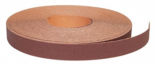 Super Fine Aluminum Oxide Abrasive Roll, 150 ft. L X 1-1/2'' W, P400 Grit by GRAINGER APPROVED