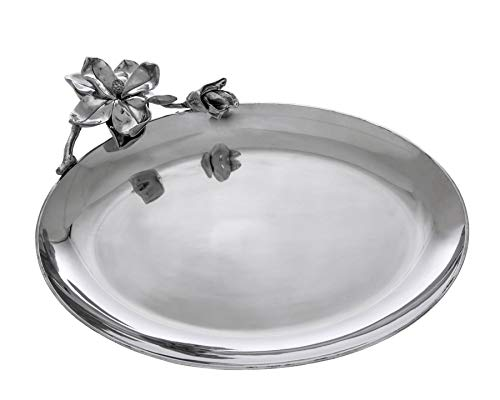 Arthur Court Designs Aluminum Magnolia Oval Platter 18