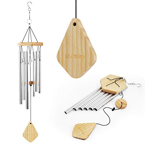 Lemecima Wind Chimes 30 Inch Personalized Outdoor Sympathy MemorialWind Chimes Gift Keepsake for Loved Aluminum Tubes Wooden Wind Bell for Garden/Patio Deco