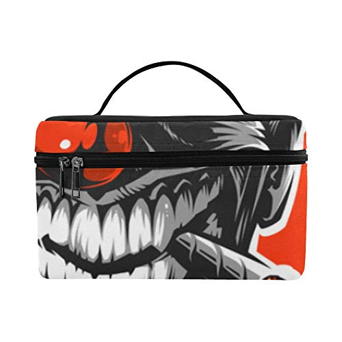 Evil Scary Clown Monster Pattern Lunch Box Tote Bag Lunch Holder Insulated Lunch Cooler Bag For Women/men/picnic/boating/beach/fishing/school/work -