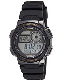 Casio Men 's ae-1000W-1avcf resina Reloj Deportivo con banda de color negro