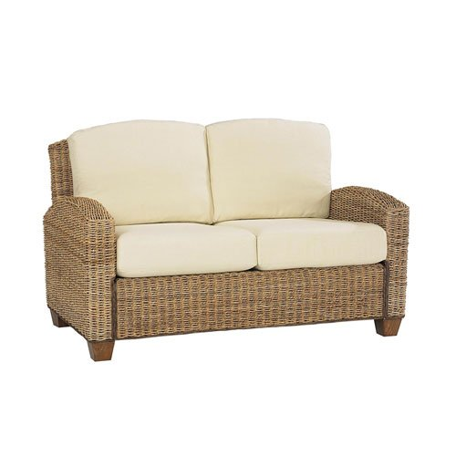 Home Styles 5401-60 Naples Cabana Banana Love Seat, Honey Finish HY-5401-60