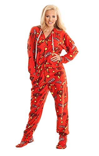 Iron Man Marvel Red Adult Footed Onesie Unisex Pajamas for Men and Women (XL)