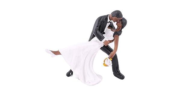 Amazon.com: eDealMax Fiesta de la boda del Novio de resina Bailar arte de DIY de la Magdalena de la decoración de la Torta: Home & Kitchen