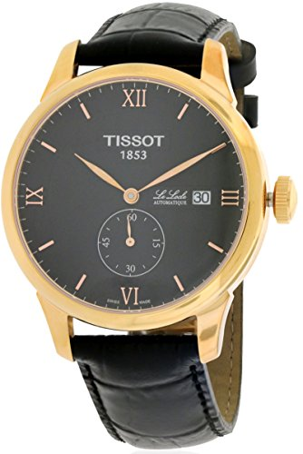 Tissot T Classic Le Locle Automatic Black Dial Black Leather Mens Watch T0064283605801