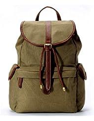 La Poet Womens Fashion Backpack Handbag - Purse - Waterproof - Waxed Canvas and Leather - Travel Rucksack Pack...