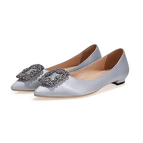 Vedettävä Toe kengät Pumppuja Solid Naisten Suljetun Huomautti Korkokengät Gray1cm Päälle Amoonyfashion qWzw7BExHW