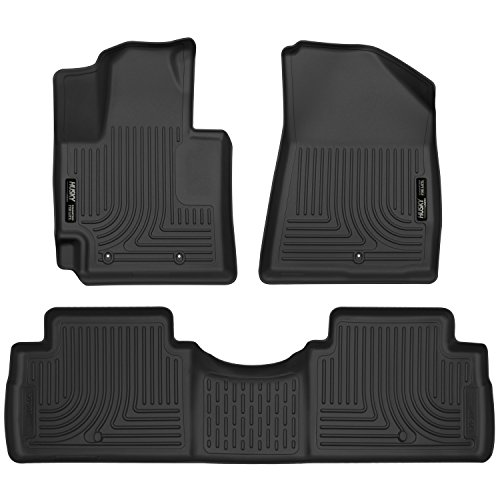 Husky Liners Weatherbeater Series 2016 Kia Soul Front/Second Seat Floor Liner (Footwell Coverage) - (Black) (99611) by Husky (Carpeted Black Front Floor Liner)