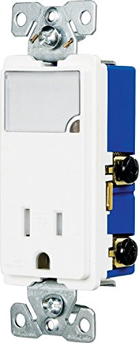 (Eaton TR7735W 3-Wire Receptacle Combo Nightlight with Tamper Resistant 2-Pole, White)
